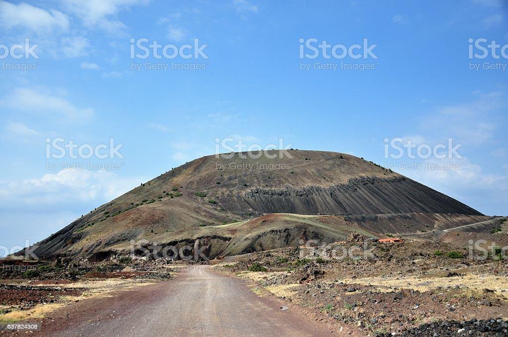Divlit extinct volcano stock photo