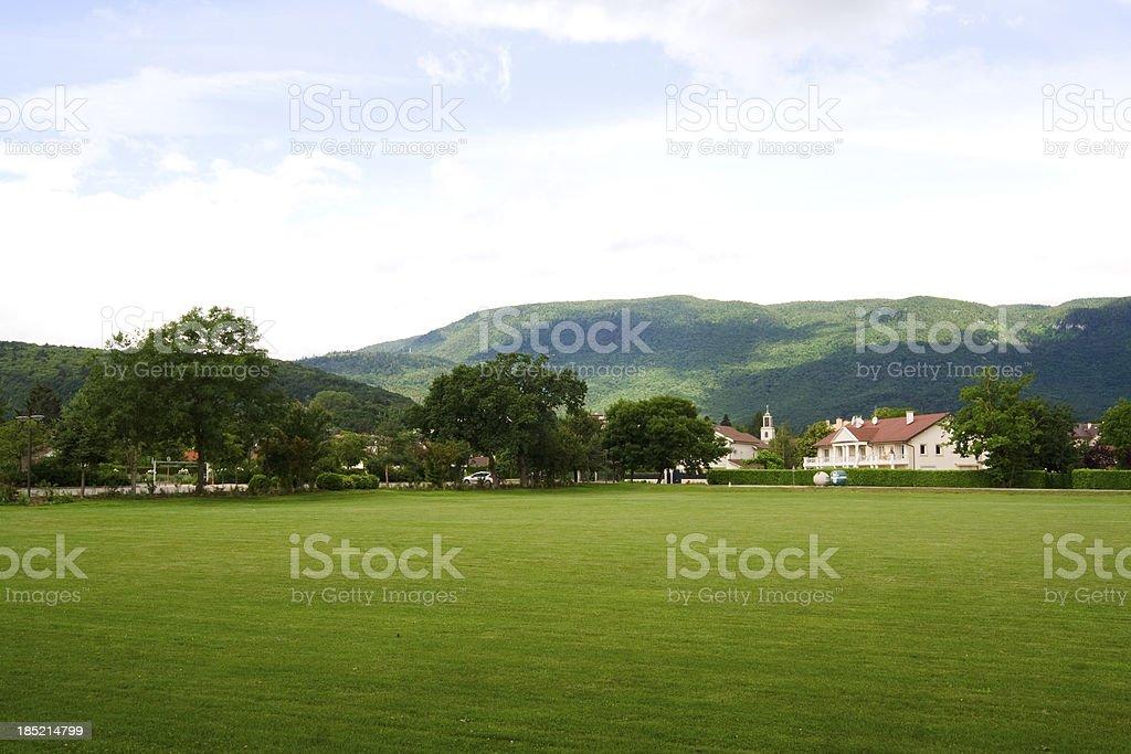 Divonne countryside, France. stock photo
