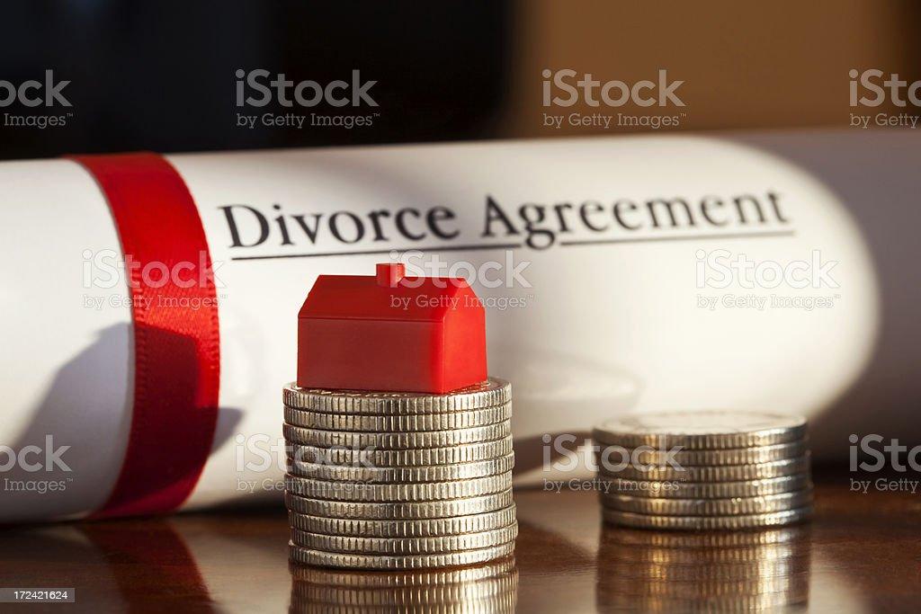 Divorce Agreement royalty-free stock photo