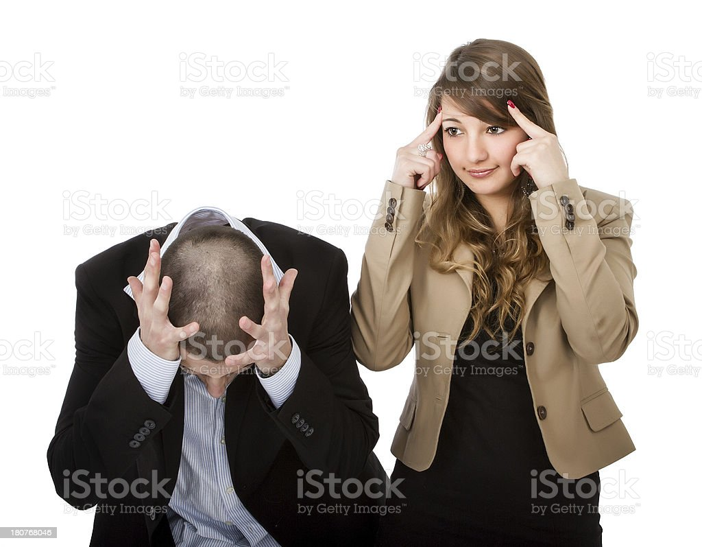 divorce and crazy moment for a couple royalty-free stock photo