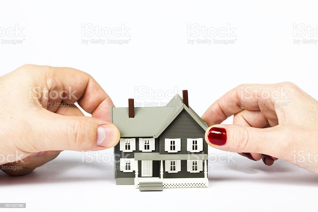 Divorce and split of assets stock photo