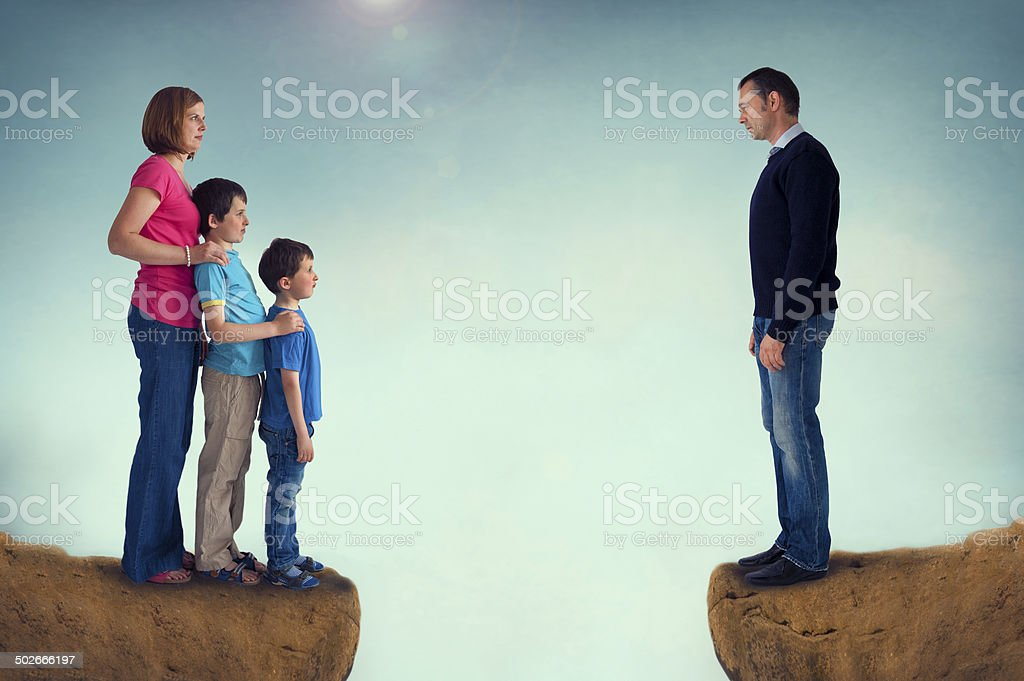 divorce concept family separation stock photo