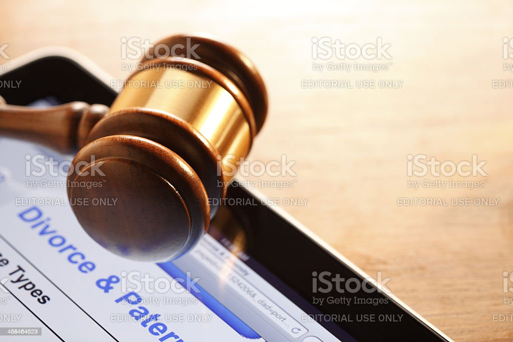 Divorce Court royalty-free stock photo
