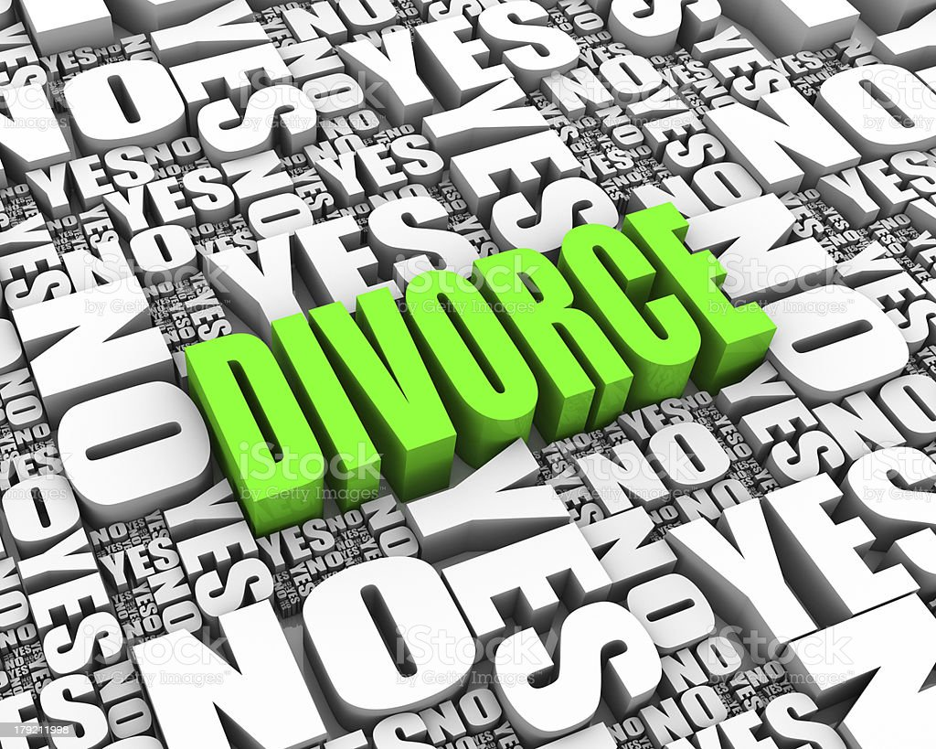 Divorce Decision royalty-free stock photo