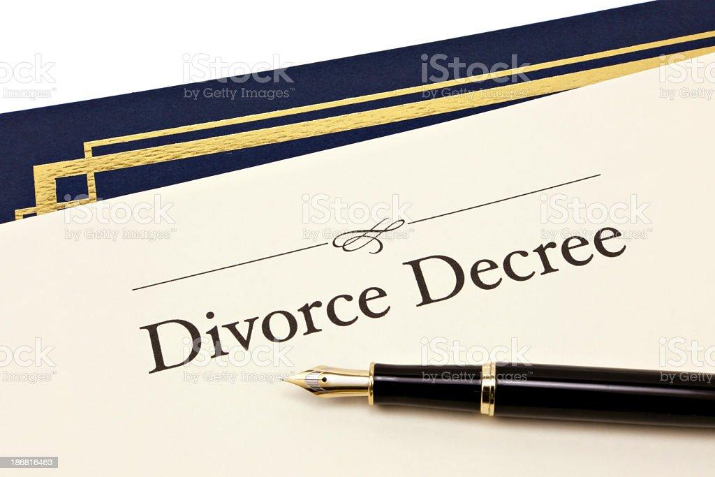 Divorce Decree document royalty-free stock photo