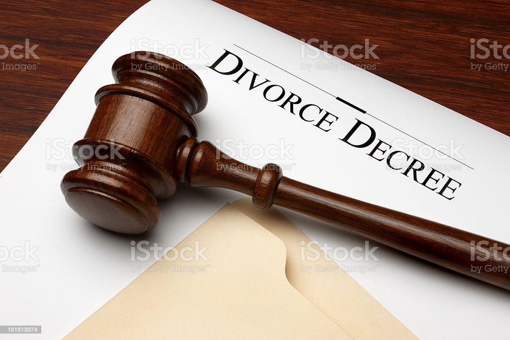 Divorce Decree stock photo