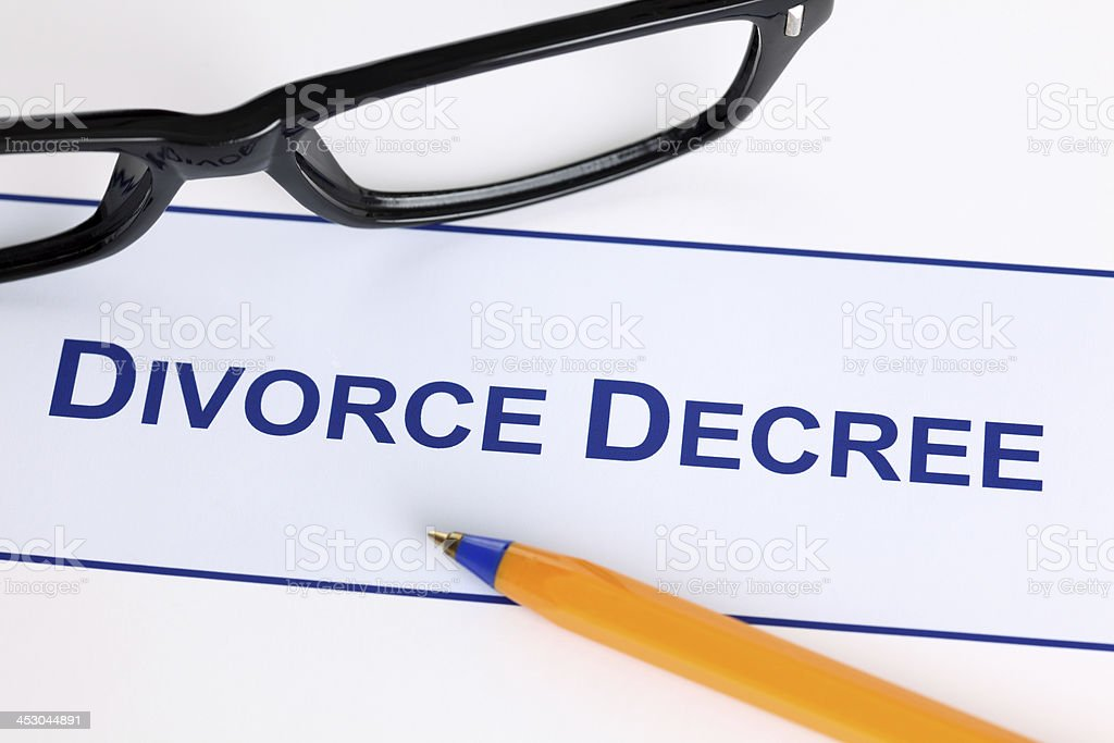 Divorce Decree royalty-free stock photo