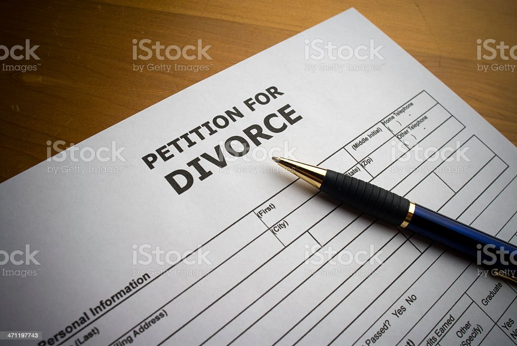 Divorce Document royalty-free stock photo