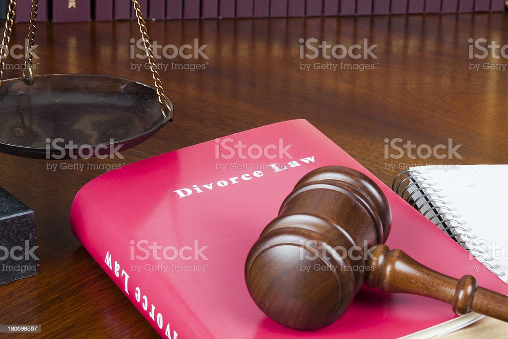 Divorce law royalty-free stock photo