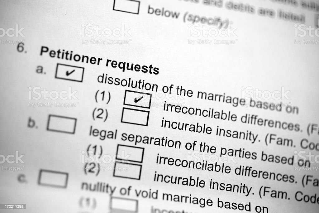 Divorce Papers royalty-free stock photo