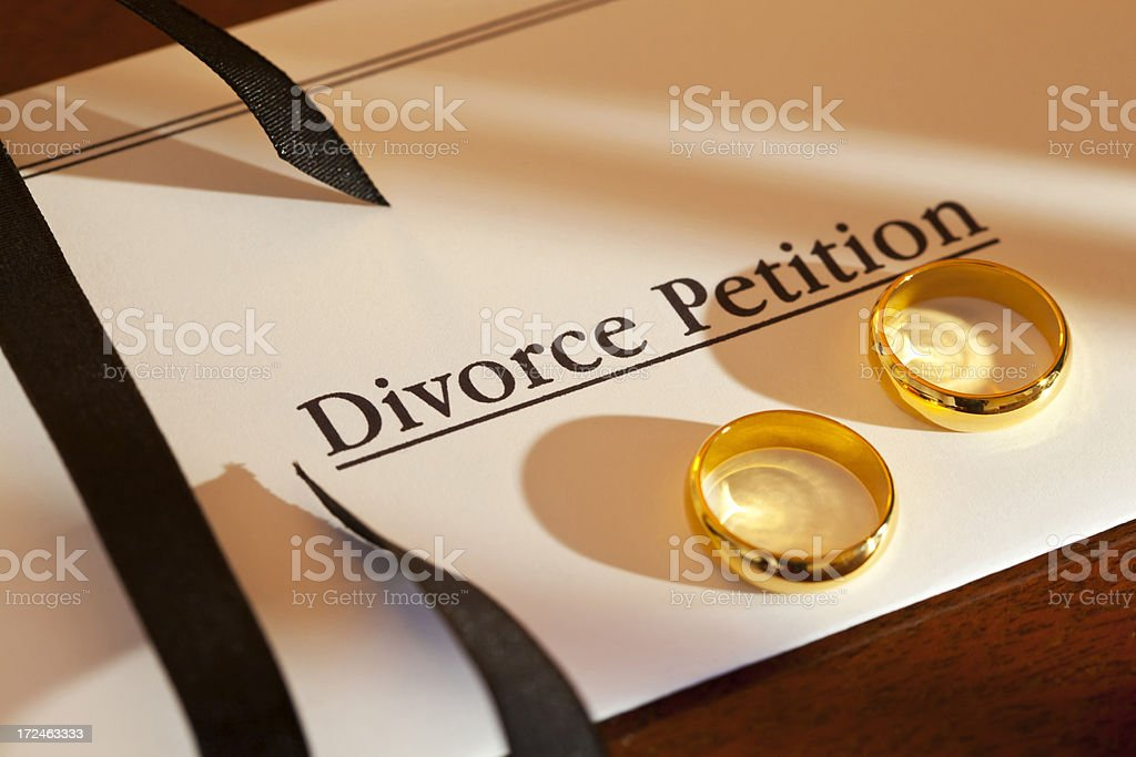 Divorce Petition stock photo