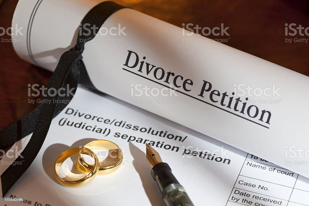 Divorce Petition UK stock photo