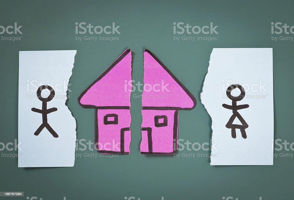 Divorce settlement concept royalty-free stock photo
