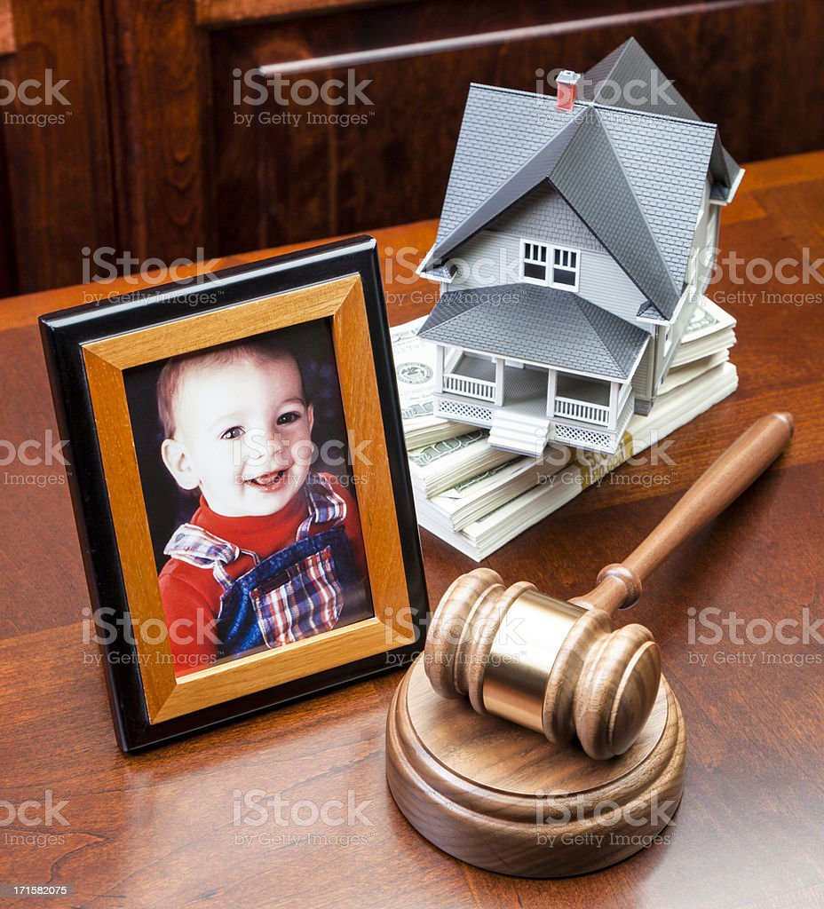 Divorce Settlement royalty-free stock photo