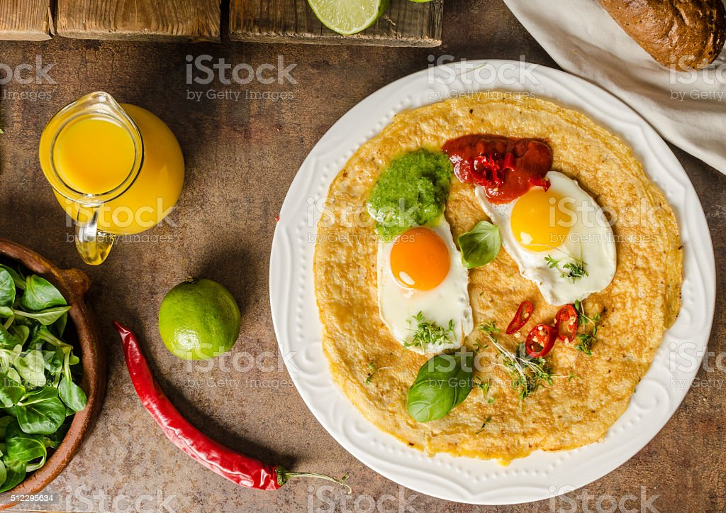 Huevos divorciados stock photo