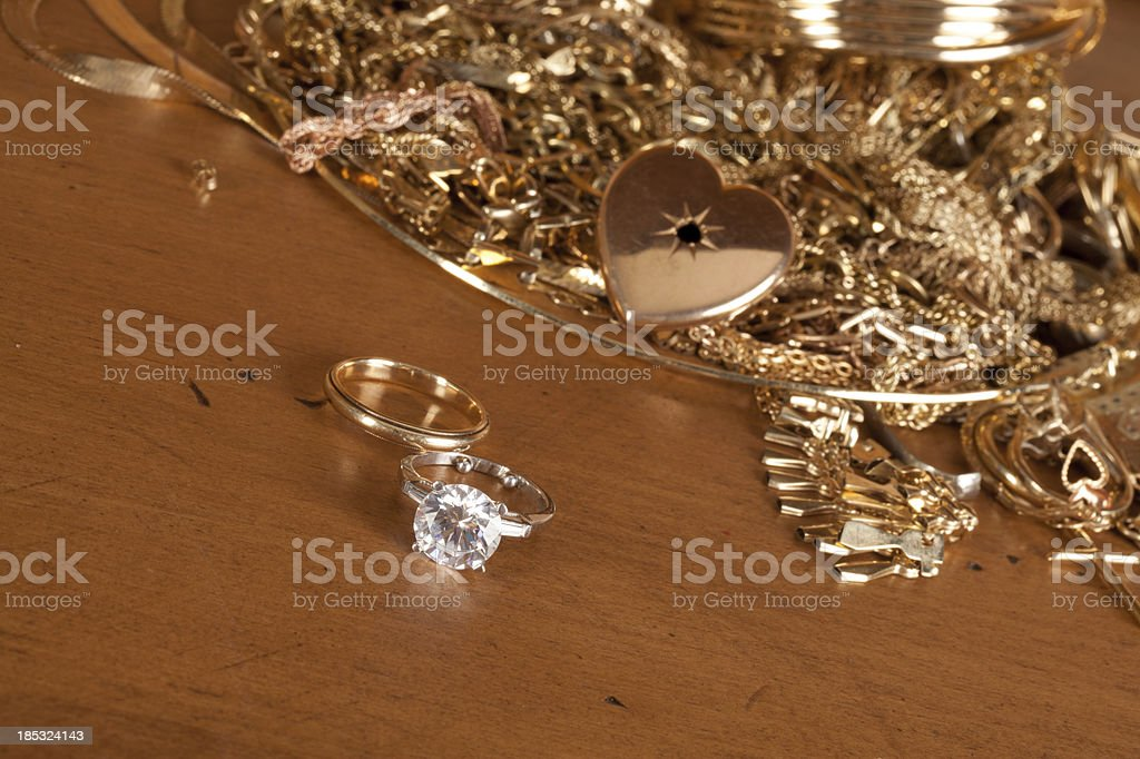 Divorce:We buy old gold stock photo