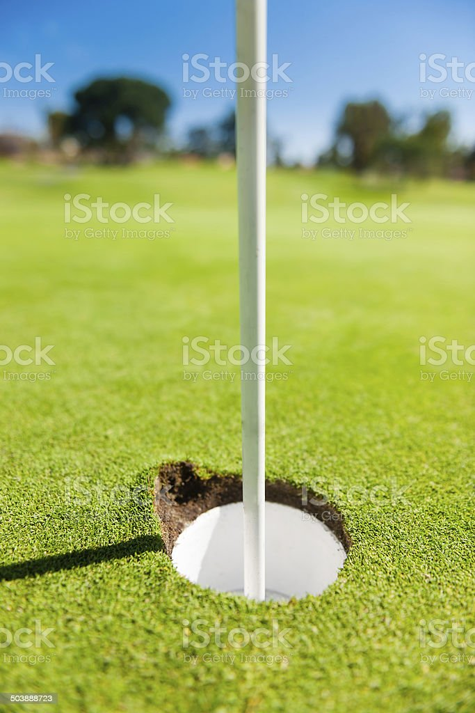Divot on the Golf Hole stock photo
