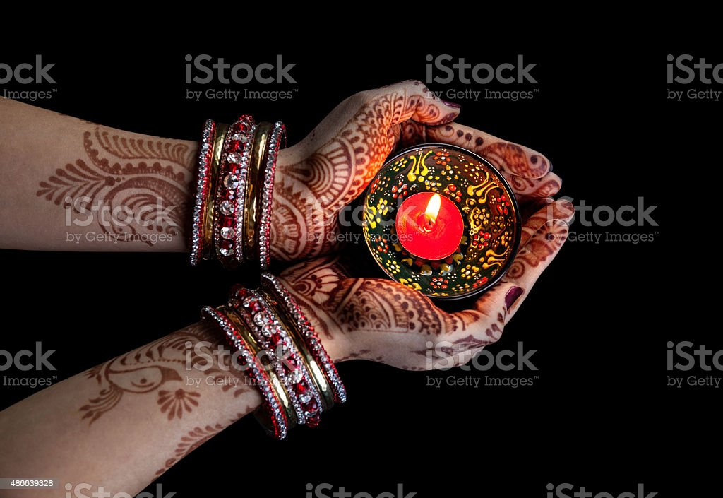 Diwali celebration stock photo
