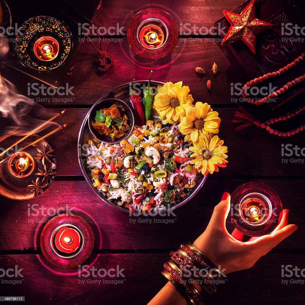 Diwali celebration stock photo
