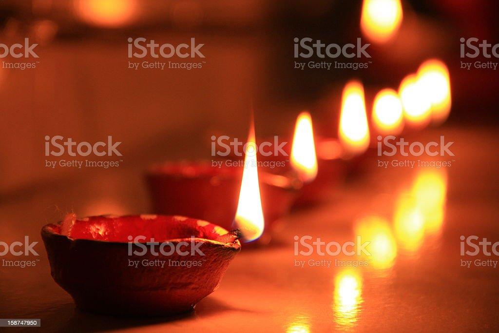 Diwali Diya stock photo