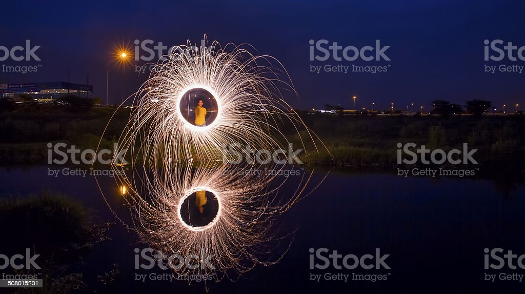 Diwali Fireworks in India stock photo
