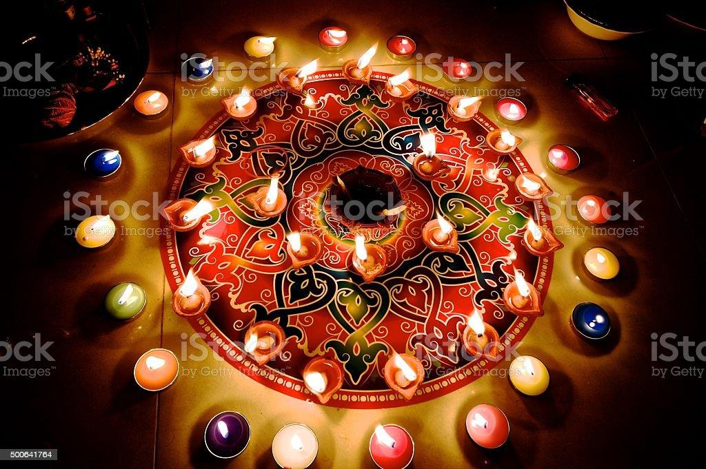Diwali hindu festival celebration stock photo