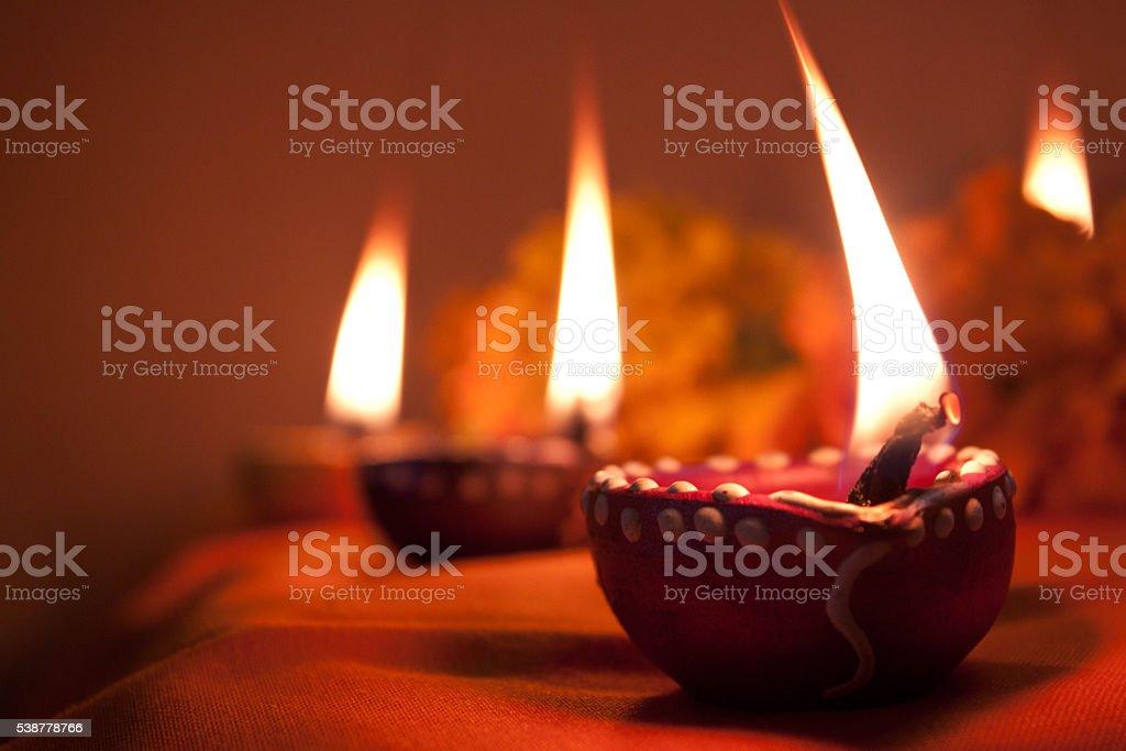Diwali Light, Indian Lamp stock photo