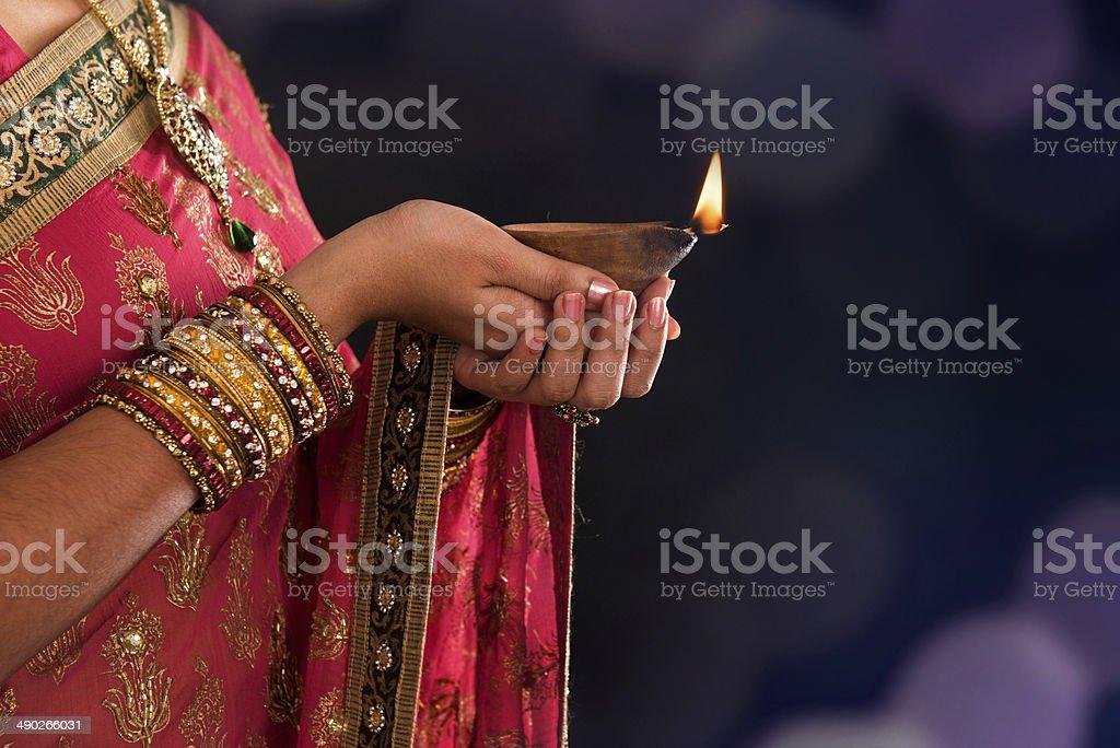 Diwali light stock photo