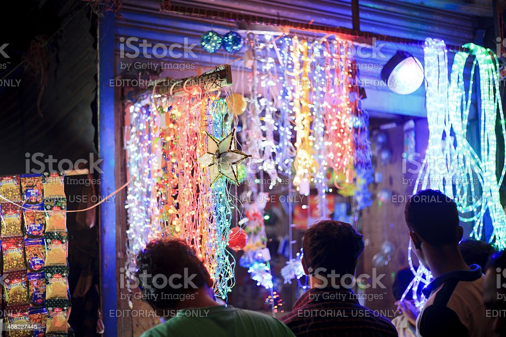 Diwali Lights for Sale stock photo