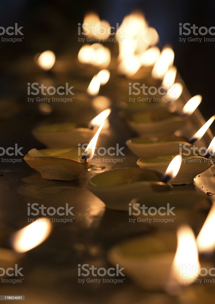 Diwali oil lamp royalty-free stock photo