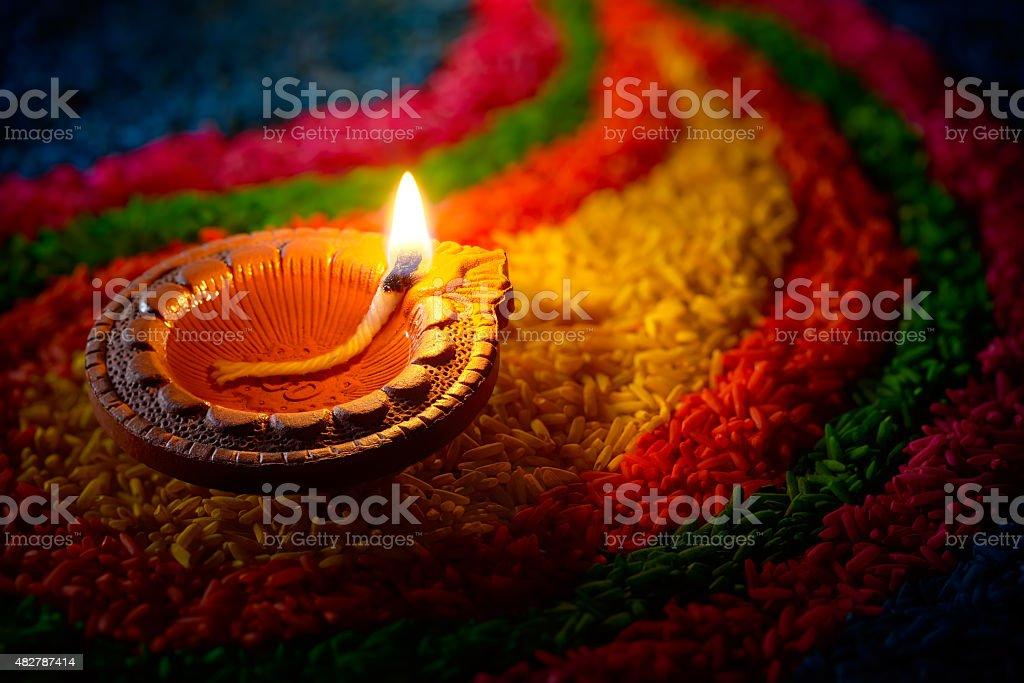 Diwali oil lamp royalty-free stock photo