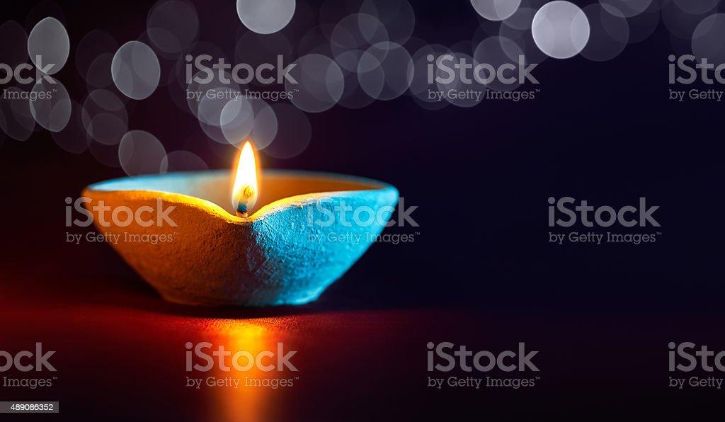 Diwali oil lamp stock photo