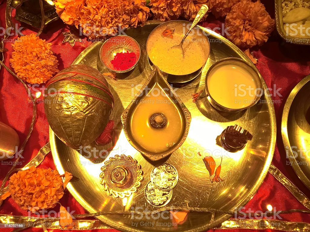 Diwali Puja stock photo