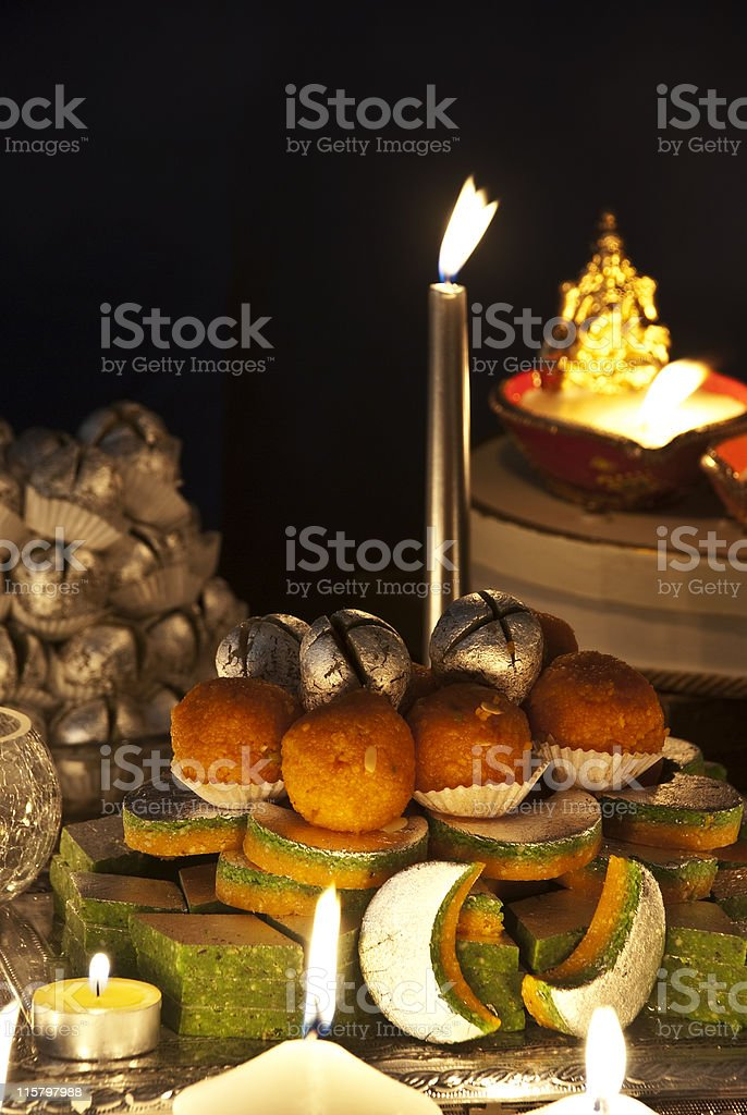 Diwali sweets royalty-free stock photo