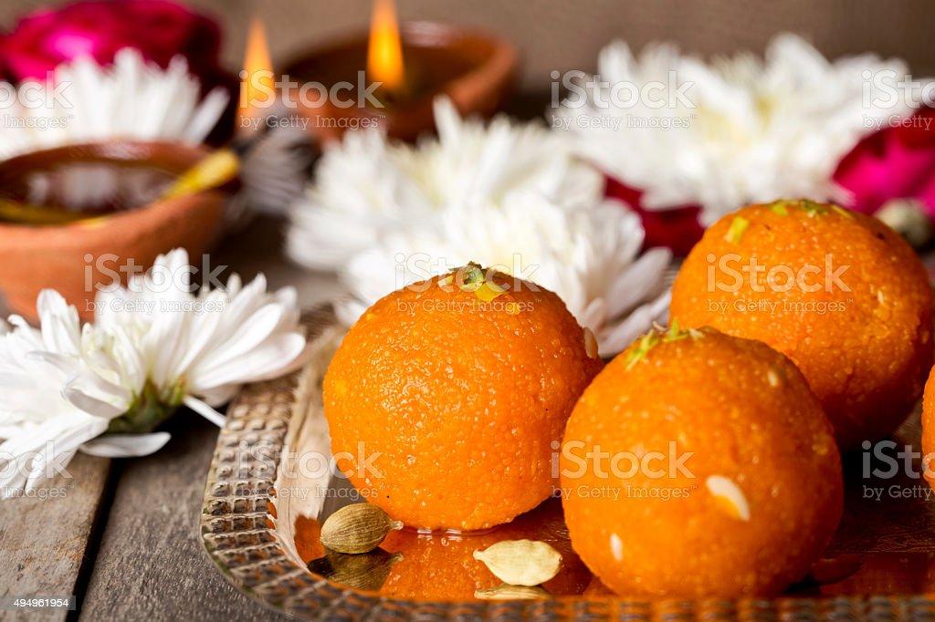 Diwali sweets stock photo