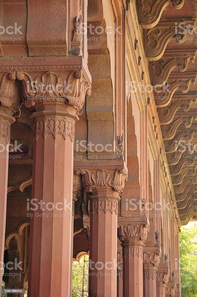 Diwan-i-Aam,Red fort,New Delhi,India. stock photo