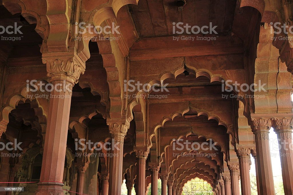 Diwan-i-Aam,Red fort,New Delhi,India. royalty-free stock photo