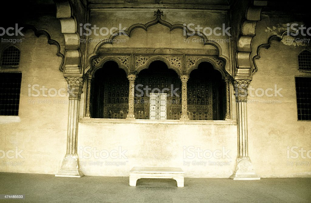 Diwan-I-Am, Hall of Public Audience, Agra, India stock photo
