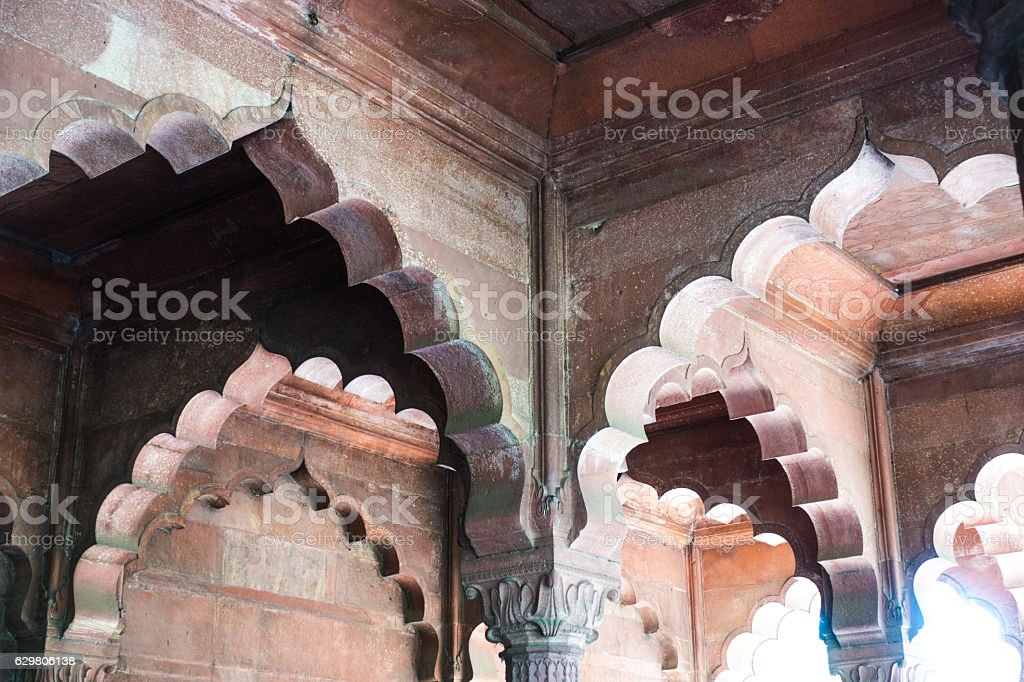 Diwan-i-Am - Red Fort New Delhi stock photo