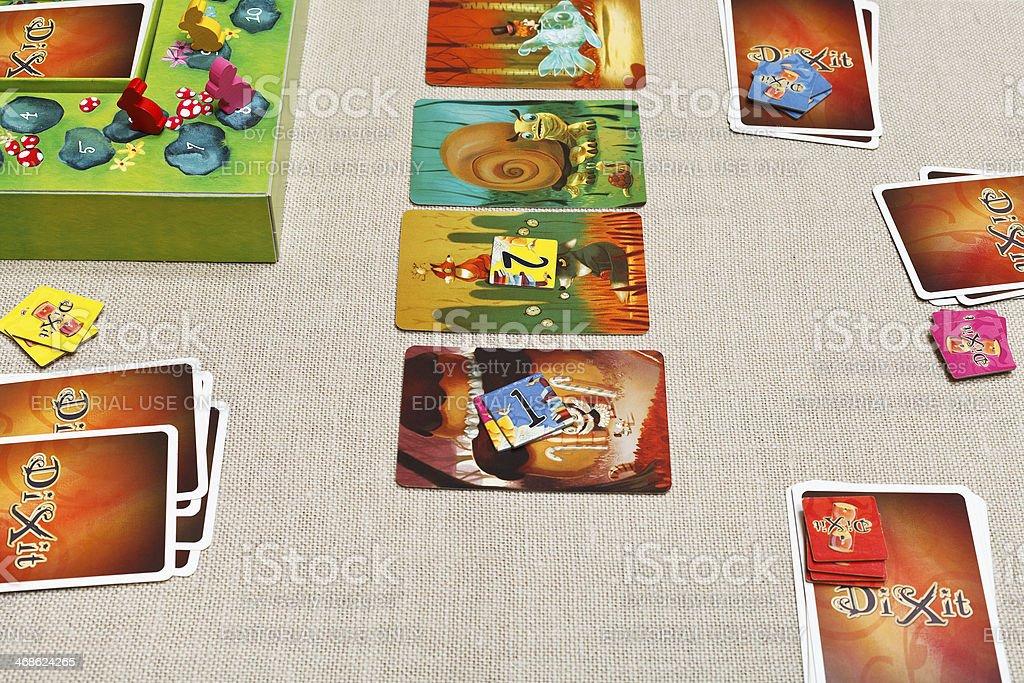 Dixit card game stock photo