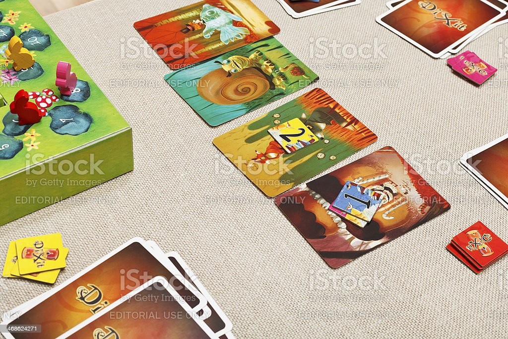 Dixit - family card game stock photo