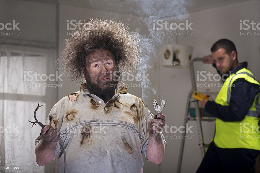 diy mishap stock photo