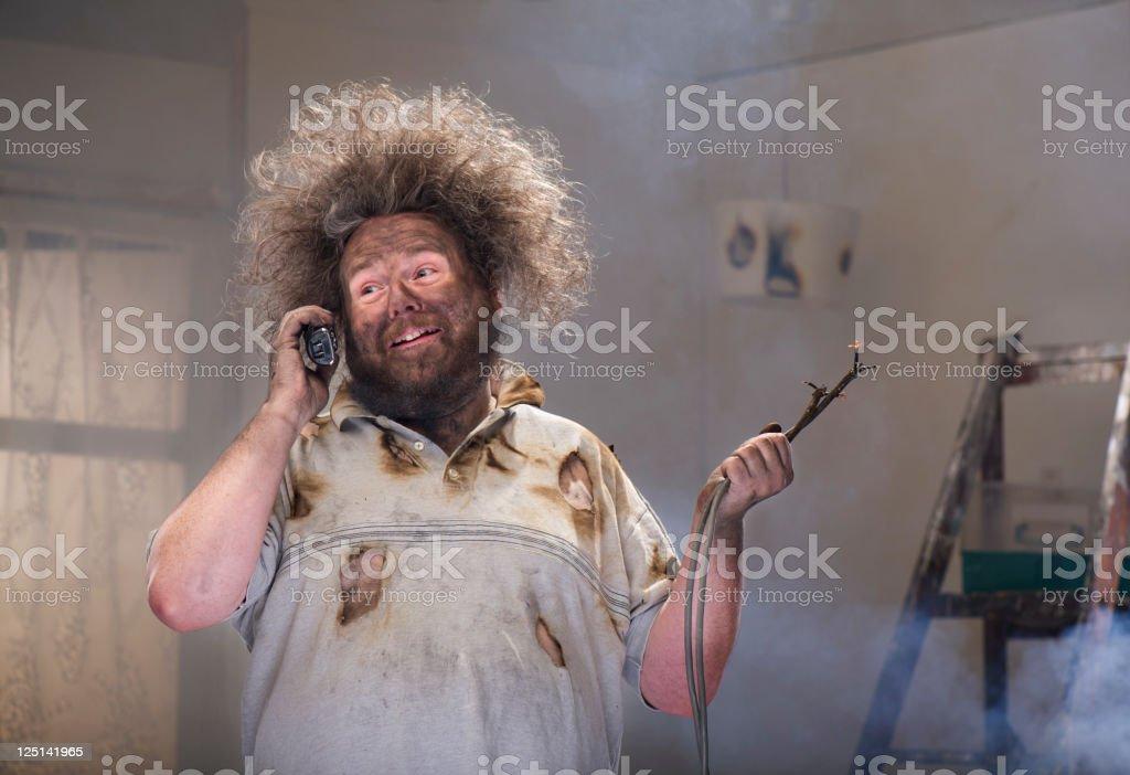 diy phone for help stock photo