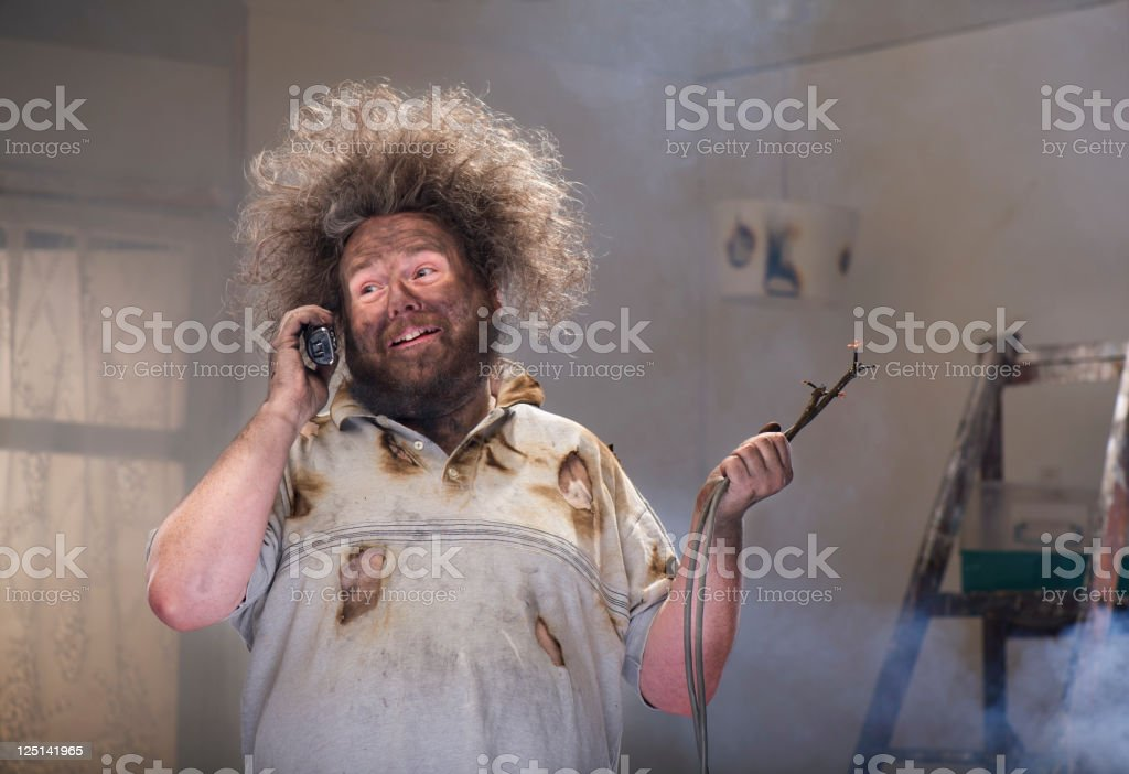 diy phone for help stock photo