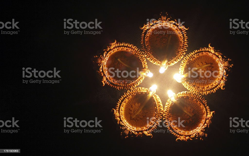 Diya - Celebrations of diwali stock photo