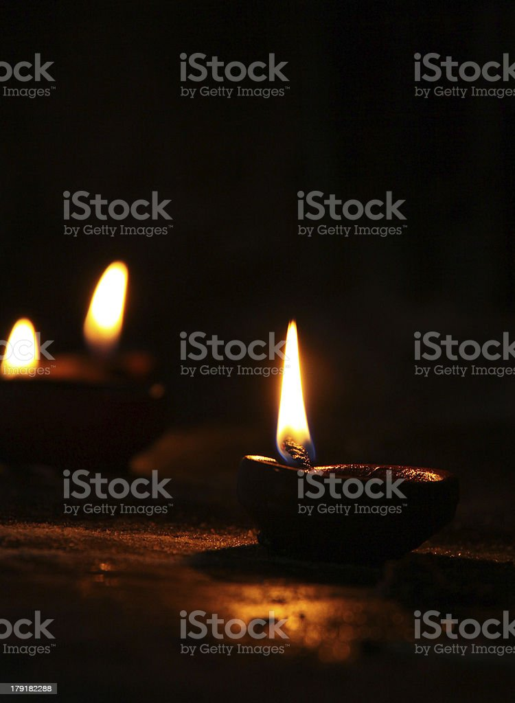 Diya - Oil Lamp stock photo