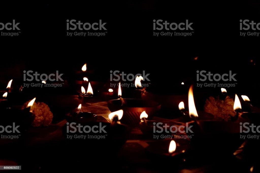 Diyas and Diwali stock photo