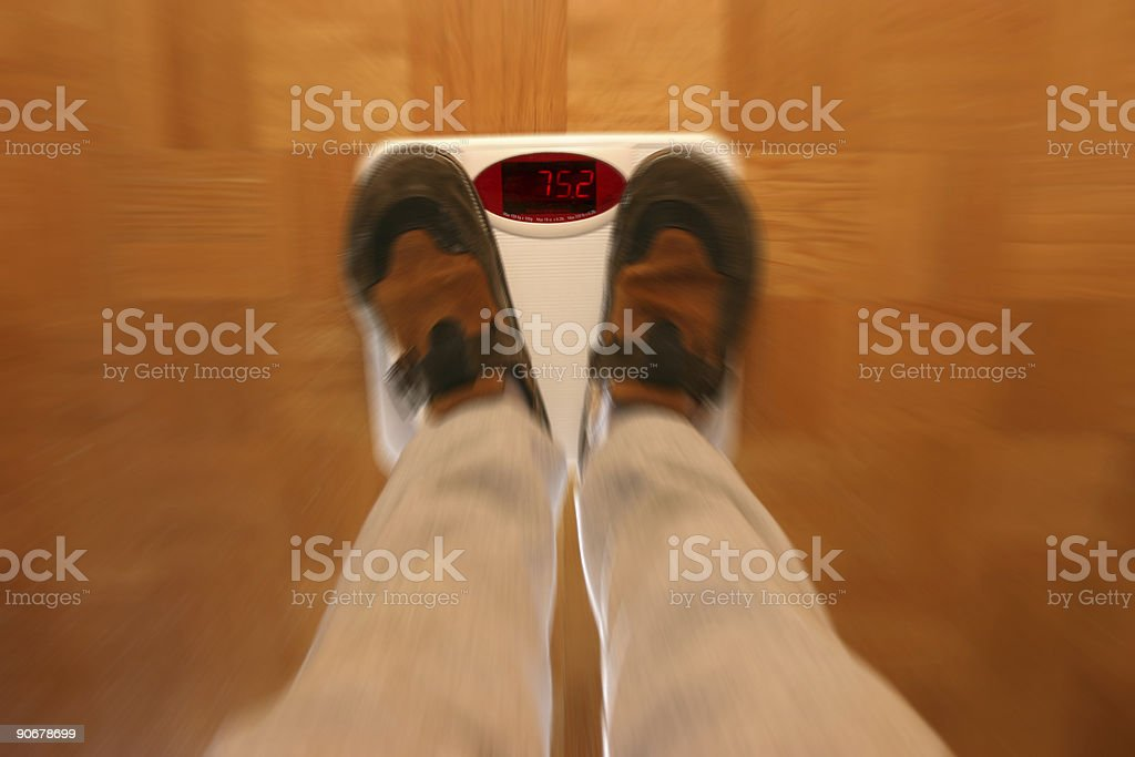 Dizzy of all the weight loss royalty-free stock photo