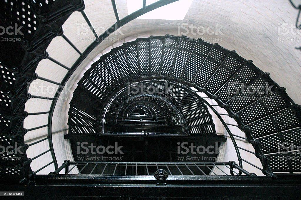 Dizzying Staircase stock photo