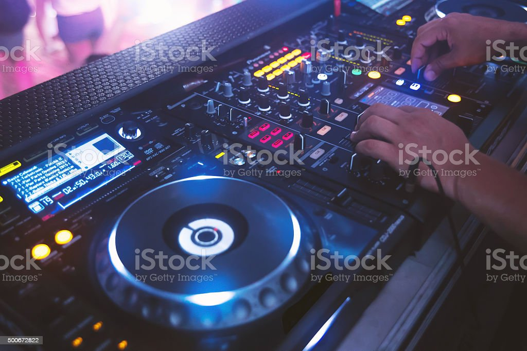 Dj and party stock photo